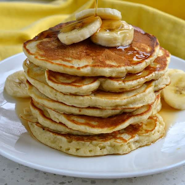 These Light Fluffy Made From Scratch Buttermilk Pancakes With The Delicious Flavors Of Banana, Vanilla And A Touch Of Cinnamon Are Hard To Resist.