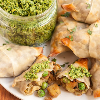 Baked Samosas with Potatoes and Peas