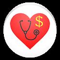 Cardiac diagnosis (heart rate, arrhythmia) icon