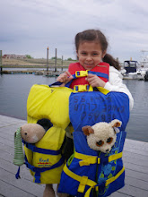 Photo: John M's grandaughter Brooke and a couple of furry friends ready to launch.
