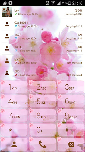 Theme for ExDialer Love Cherry