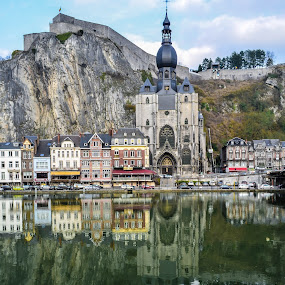 Dinant, Belgium by Adriana Yampey - Landscapes Travel ( dinant, belgium, pwcreflections-dq, city )