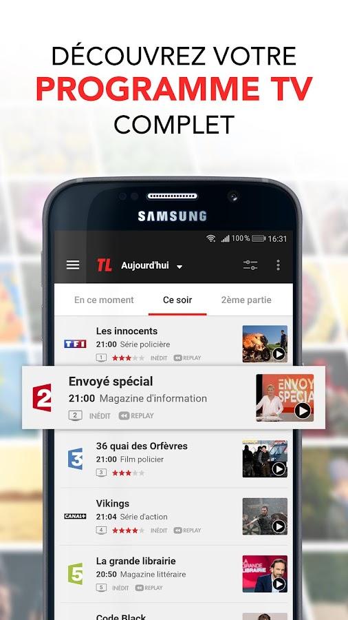 programme tv par t l loisirs guide tv news tv android apps on google play. Black Bedroom Furniture Sets. Home Design Ideas