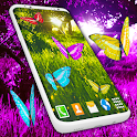 Butterfly Live Wallpaper 🦋 Forest Purple Themes icon