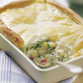 Chicken and Vegetable Filo Pie.