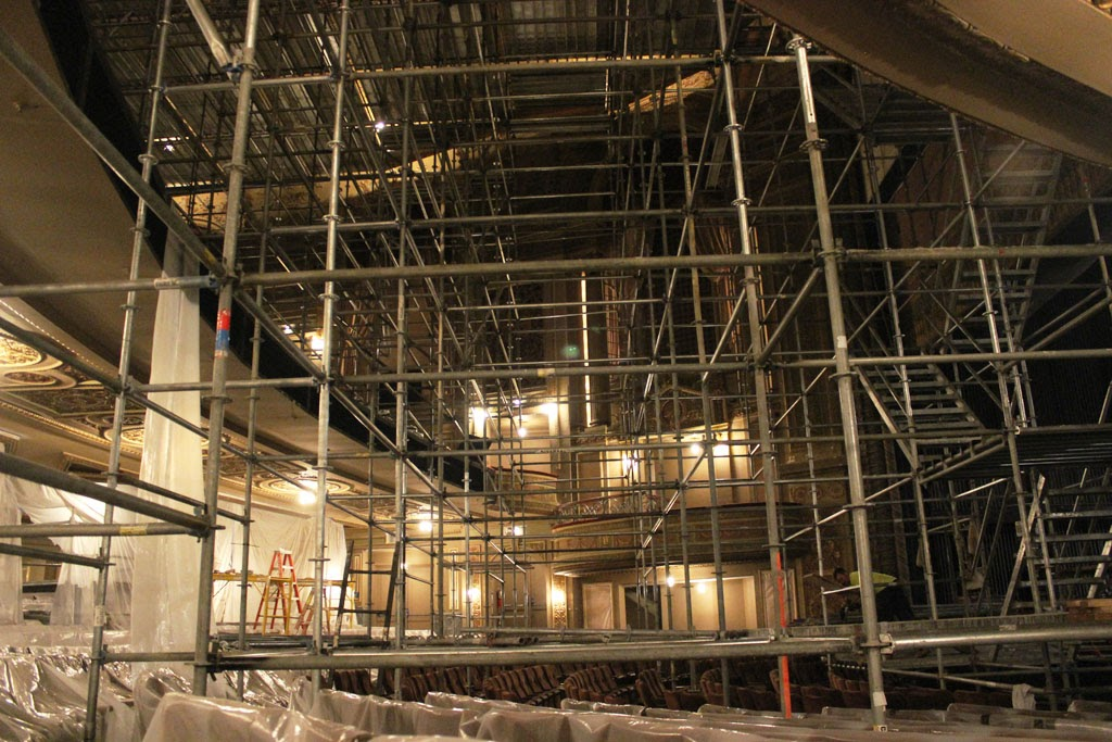 Where To Rent Scaffolding : Pulling back the curtain for opening night restoring