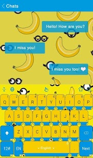 Happy Banana Keyboard Theme - náhled