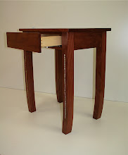Photo: Hall table-Dave Adams Salvaged Brushbox (probably), PNG shell money from his initiation