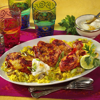 Tandoori Chicken With Mushroom Rice
