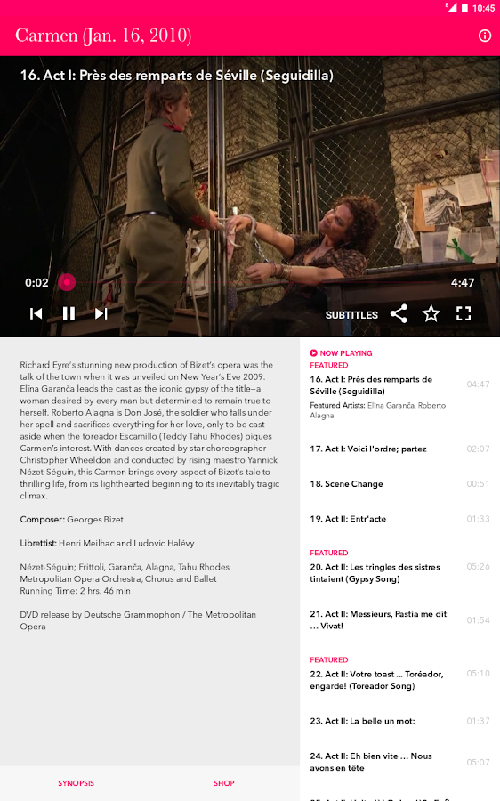 Met Opera on Demand- screenshot