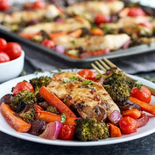 One-Pan Balsamic Chicken Veggie Bake Recipe