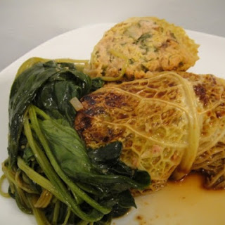 Asian Cabbage Rolls with Spicy Pork.