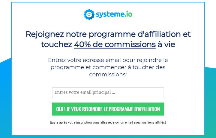 Plateforme d'affiliation systeme.io
