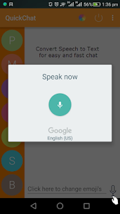 QuickChat screenshot