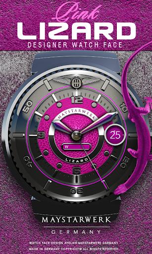 Pink Lizard Watch Face