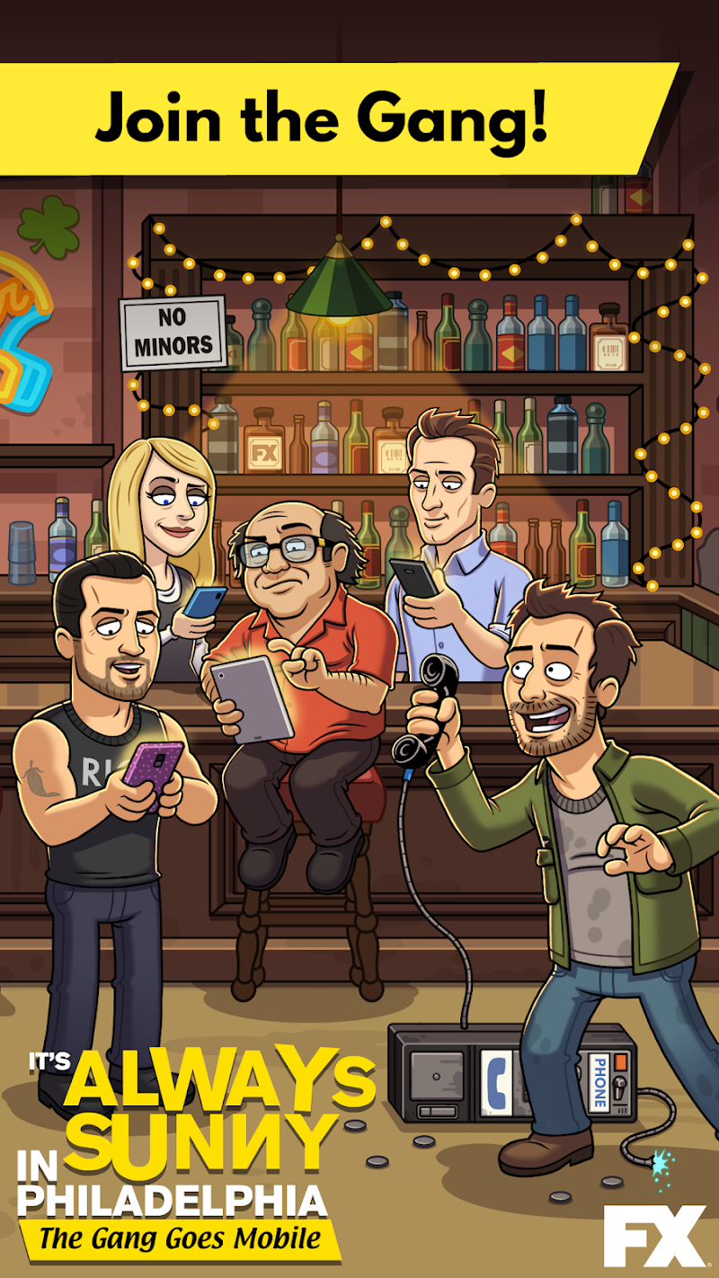 Free Download It's Always Sunny: The Gang Goes Mobile Cheat APK MOD