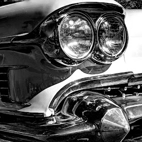 Classic Cadillac by Doug Faraday-Reeves - Black & White Objects & Still Life ( cadillac, automobile, american, classic )
