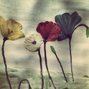Flower on stalk by Meeta Thakur - Painting All Painting ( paper, theme, art, water colour, painting )
