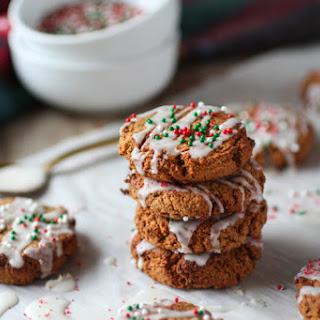 Grain-free Soft Ginger Molasses Cookies.