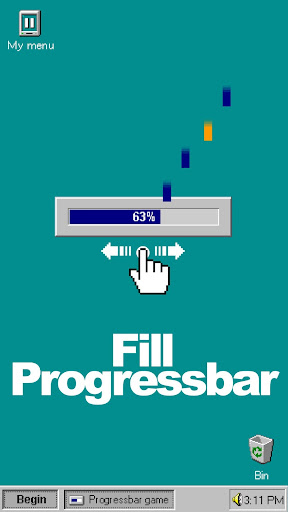 Progressbar95 - easy, nostalgic hyper-casual game 0.5602 screenshots 2