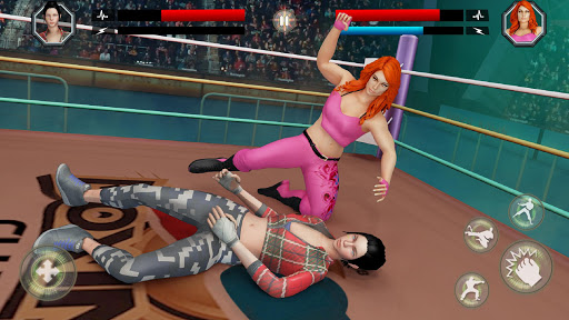 Women Wrestling Rumble: Backyard Fighting apkpoly screenshots 3