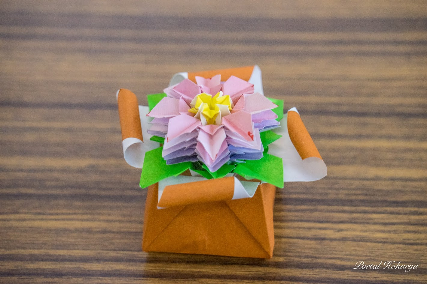 折り紙のケーキ