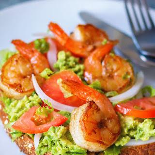 Grilled Shrimp Avocado Toast
