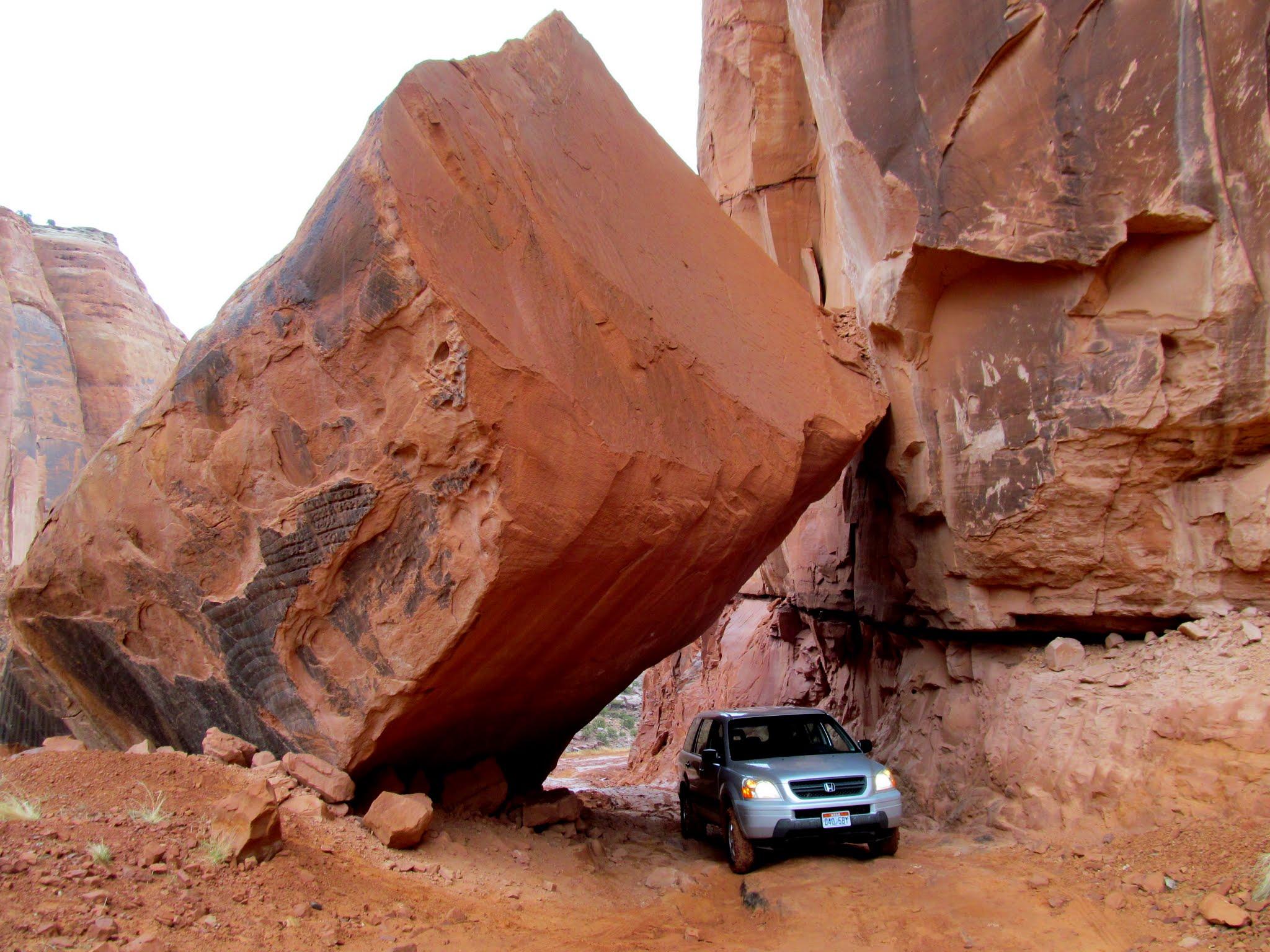 Photo: Under the boulder