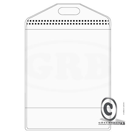 Plastficka, CR80 Täckremsa