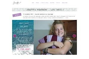 création de site internet réalisée par Joseffa
