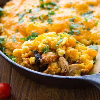 Cheesy Chicken Enchilada Bake