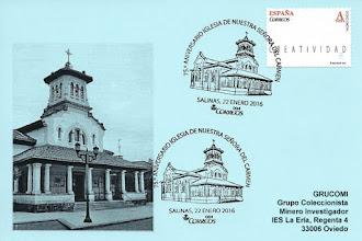 Photo: Matasellos en Salinas, 75 aniversario de la inauguración de la iglesia de la Virgen del Carmen