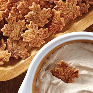 Pie Crust Chips & Cinnamon Dip.