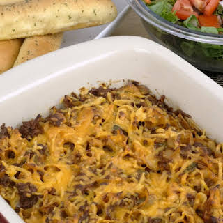 Cheesy Beef and Noodle Casserole.