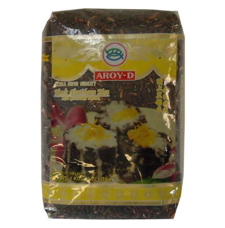 Black Glutinous Rice 1 kg Aroy-D