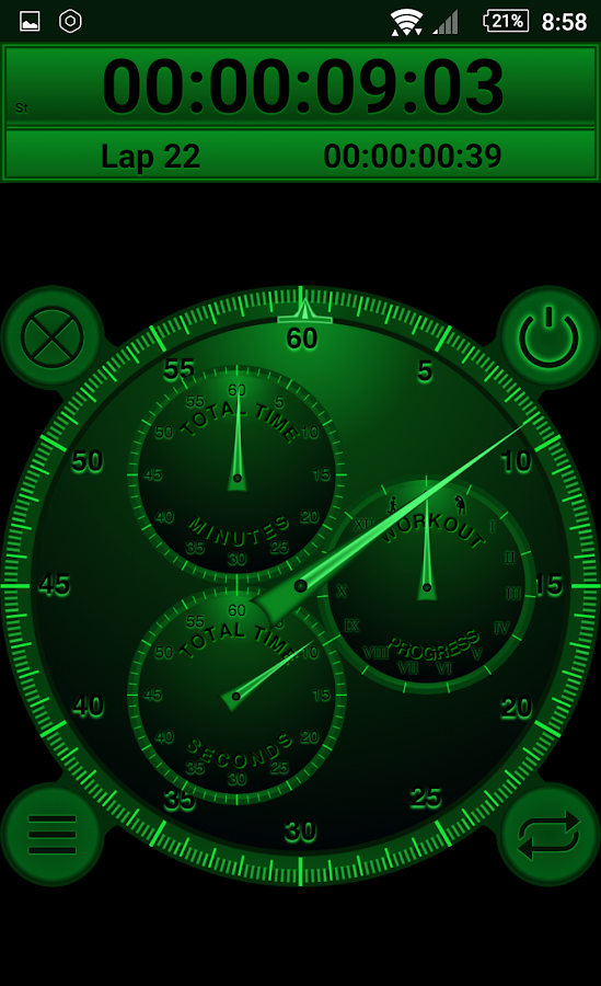 Analog Interval Stopwatch Pro - hiit workout timer- screenshot