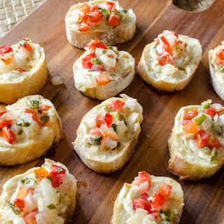 Gourmet Garlic Spread Bruschetta.