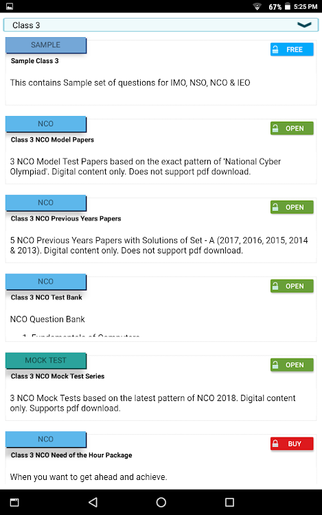 SOF Olympiad Trainer - IMO, NSO, IEO, NCO, IGKO – (Android