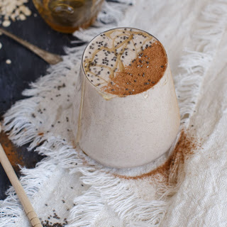 Creamy Peanut Butter and Honey Oatmeal Smoothie {Dairy free + Sugar free}