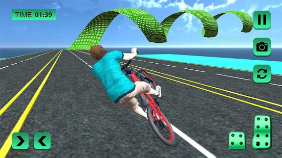 Bmx Cycle Rider Rooftop Freestyle Stunts Racing 3D - náhled