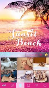 Sunset Beach Kika Keyboard 4