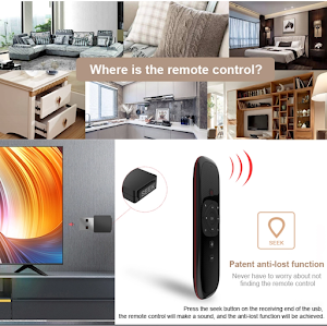 Telecomanda Smart Halber cu tastatura full qwerty, Air Mouse