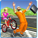 Kids Bicycle Rider Thief Chase icon