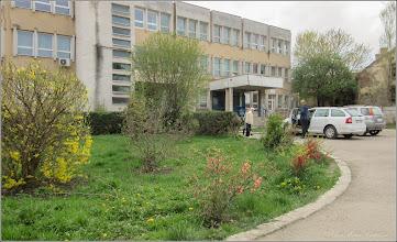 Photo: Turda - Str. Andrei Muresanu - spatiu verde al spitalului   - 2018.04.13