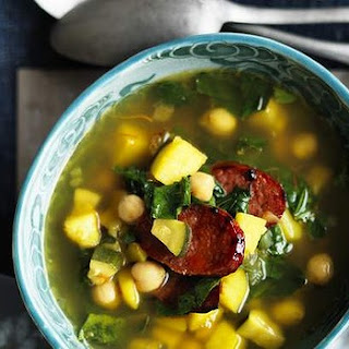 Chorizo, Saffron And Chickpea Soup