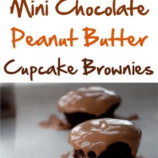 Mini Chocolate Peanut Butter Cupcake Brownies