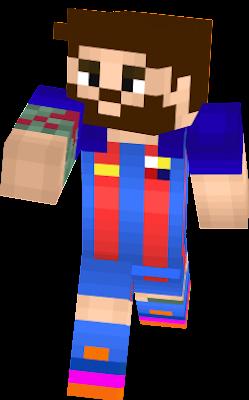 Messi Nova Skin - Skin para minecraft pe de messi