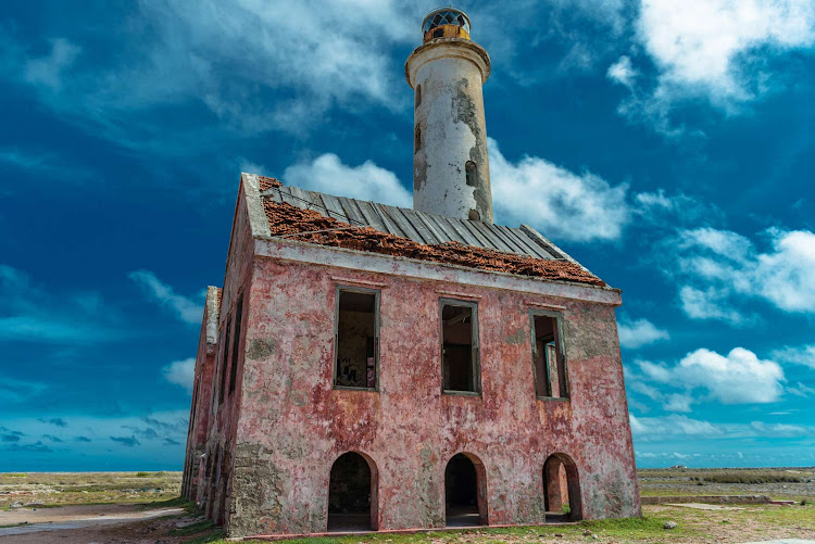 An abandoned lighthouse on Klein Curacao.