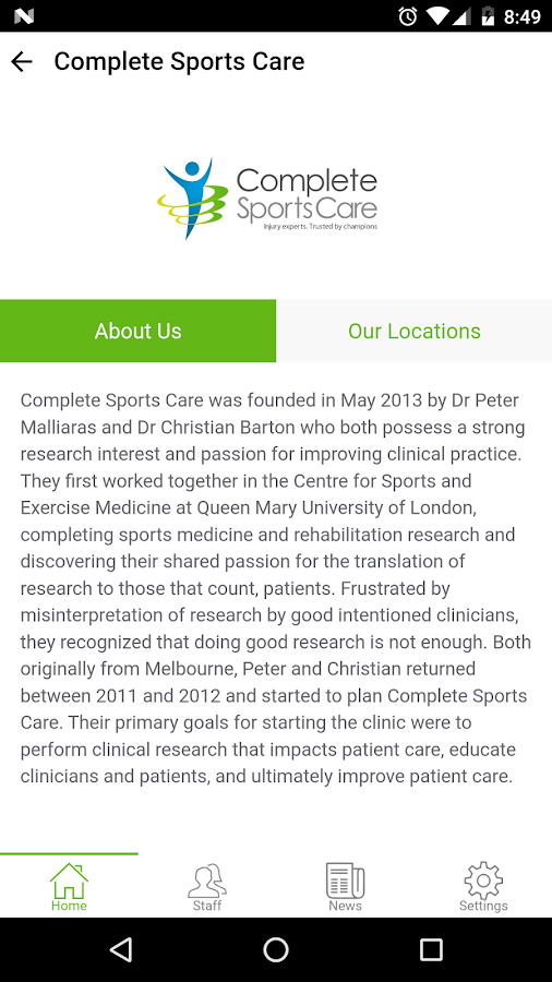 Complete Sports Care- screenshot