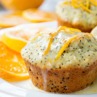 Orange Poppy Seed Muffins with Orange Yogurt Glaze